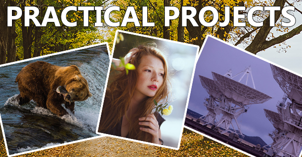 Photoshop course practical projects